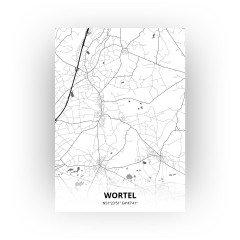 Wortel print - Zwart Wit stijl