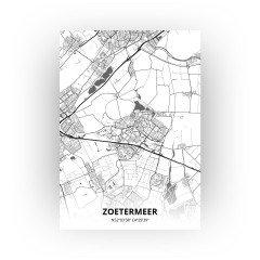 Zoetermeer print - Zwart Wit stijl