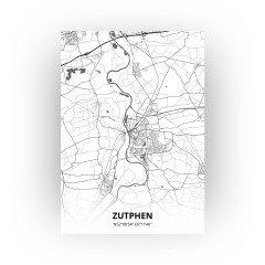 Zutphen print - Zwart Wit stijl