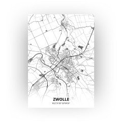 Zwolle print - Zwart Wit stijl