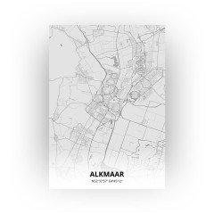 Alkmaar print - Tekening stijl