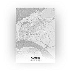 Almere print - Tekening stijl