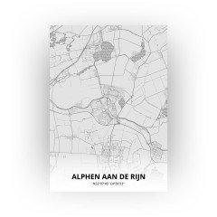 Alphen aan de Rijn print - Tekening stijl