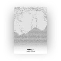 Amalfi print - Tekening stijl