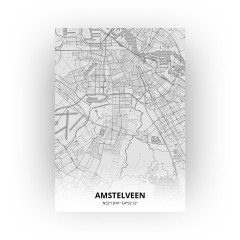 Amstelveen print - Tekening stijl