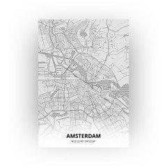 Amsterdam print - Tekening stijl