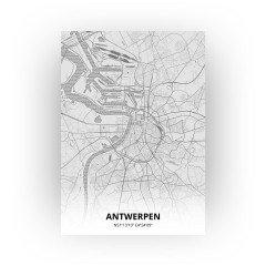 Antwerpen print - Tekening stijl