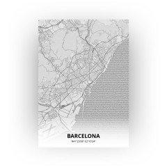 Barcelona print - Tekening stijl