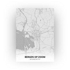 Bergen op Zoom print - Tekening stijl