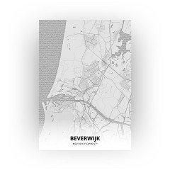 Beverwijk print - Tekening stijl