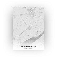 Biddinghuizen print - Tekening stijl