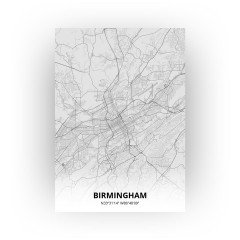 Birmingham print - Tekening stijl