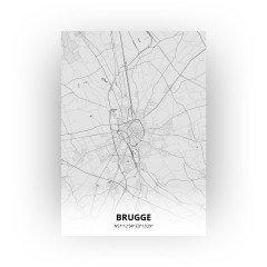 Brugge print - Tekening stijl