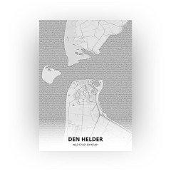 Den Helder print - Tekening stijl