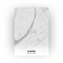 Elburg print - Tekening stijl