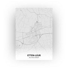 Etten-Leur print - Tekening stijl