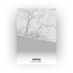 Genua print - Tekening stijl