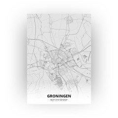Groningen print - Tekening stijl