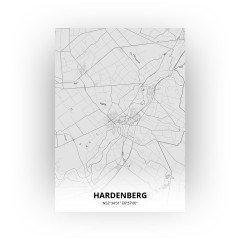 Hardenberg print - Tekening stijl