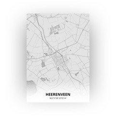 Heerenveen print - Tekening stijl