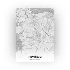 Hilversum print - Tekening stijl