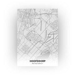 Hoofddorp print - Tekening stijl
