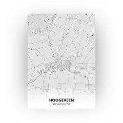 Hoogeveen print - Tekening stijl