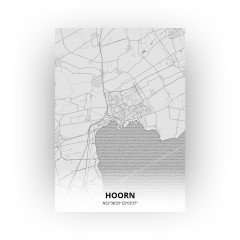 Hoorn print - Tekening stijl
