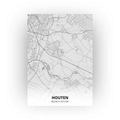 Houten print - Tekening stijl