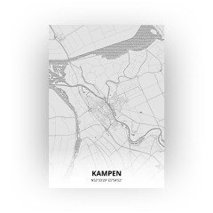 Kampen print - Tekening stijl
