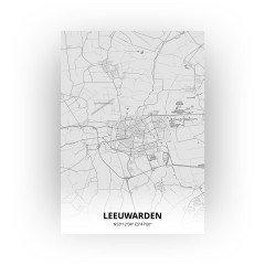 Leeuwarden print - Tekening stijl