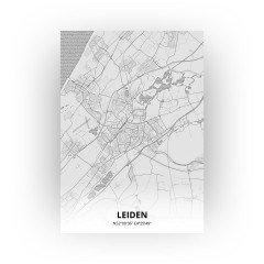 Leiden print - Tekening stijl
