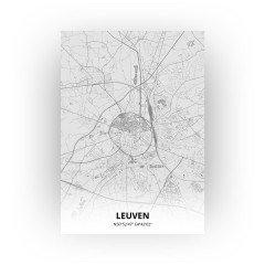Leuven print - Tekening stijl