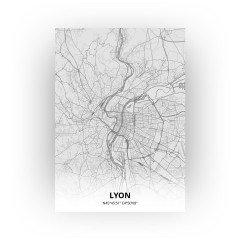 Lyon print - Tekening stijl