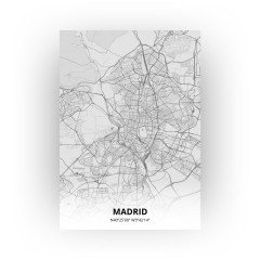 Madrid print - Tekening stijl