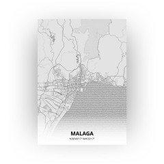 Malaga print - Tekening stijl