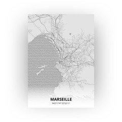 Marseille print - Tekening stijl