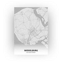 Middelburg print - Tekening stijl
