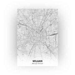 Milaan print - Tekening stijl