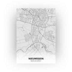 Nieuwegein print - Tekening stijl