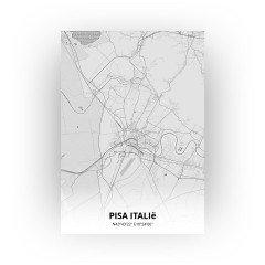Pisa Italië print - Tekening stijl