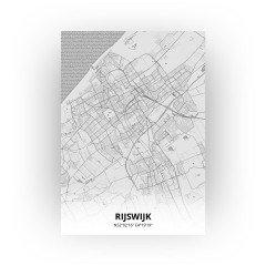 Rijswijk print - Tekening stijl