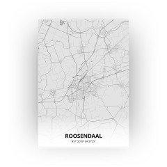 Roosendaal print - Tekening stijl