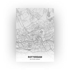 Rotterdam print - Tekening stijl