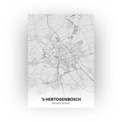 's-Hertogenbosch print - Tekening stijl