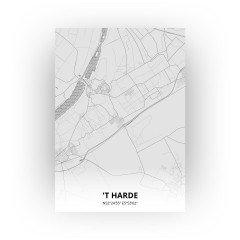 't Harde print - Tekening stijl