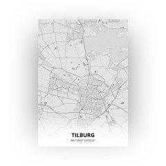 Tilburg print - Tekening stijl