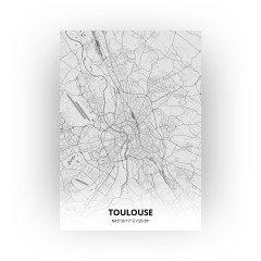Toulouse print - Tekening stijl