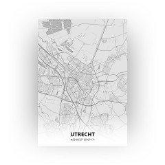Utrecht print - Tekening stijl