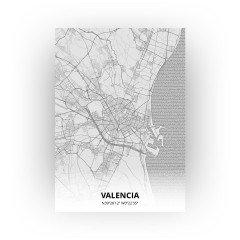 Valencia print - Tekening stijl
